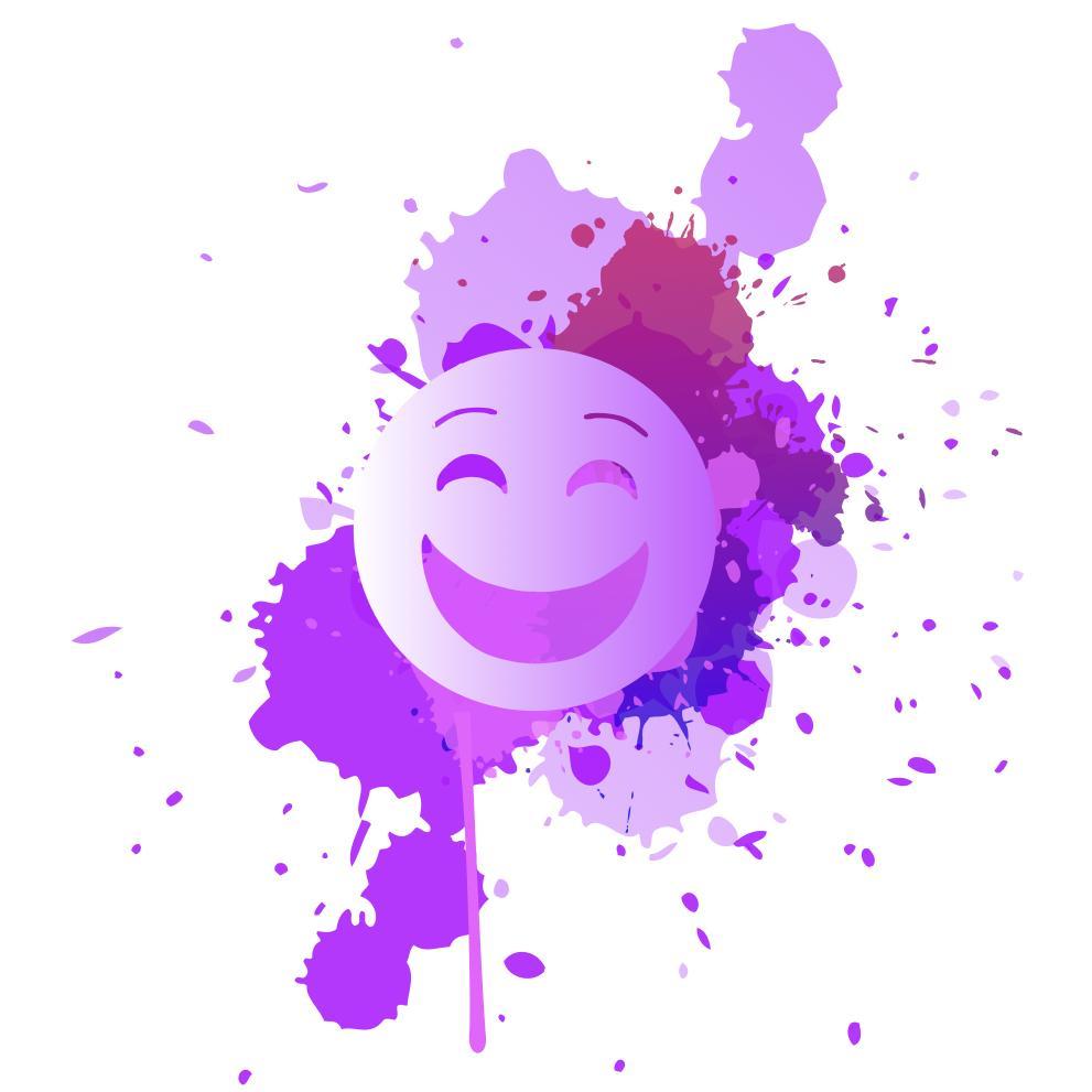purple splat